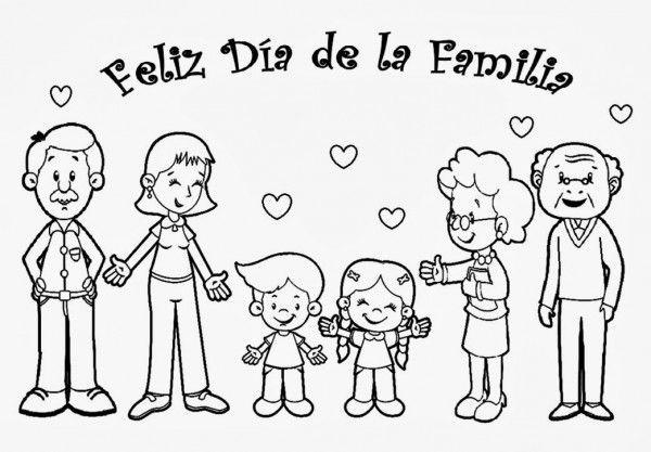 feliz dia a mi familia en dibujo