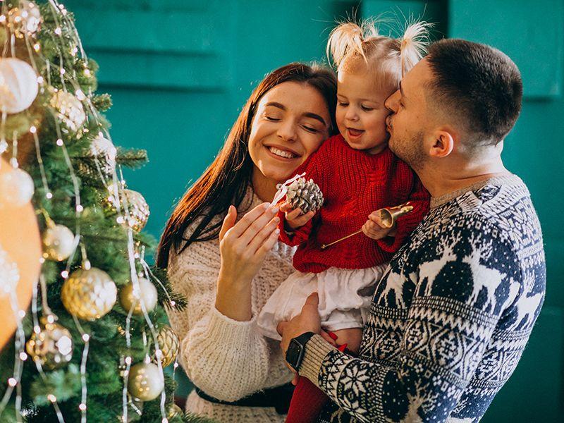 amor de familias en navidad
