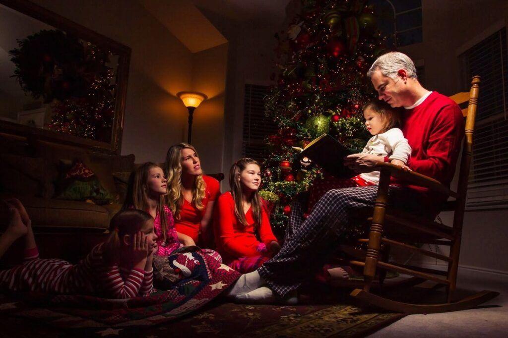 foto de navidad en familia